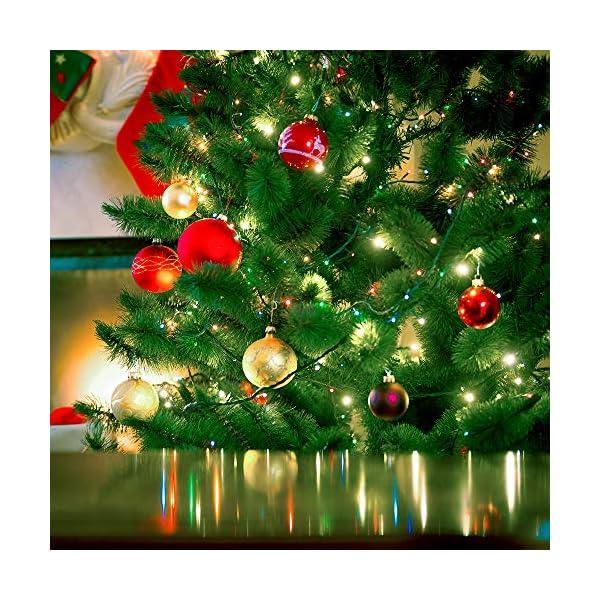 ANSIO Luci natalizie per interni e esterno 1000 LED albero luci Multi Colore, 8 modalità con memoria e funzione timer, alimentate, trasformatore incluso 25m Lunghezza illuminata- CAVO VERDE 7 spesavip