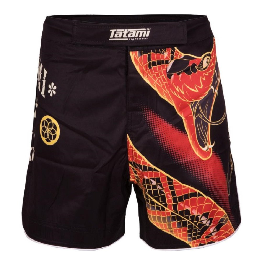Tatami No Gi Fight Shorts Duelling Snakes - MMA Fight Fitness No Gi Grappling Jiu Jitsu Shorts für Herren Kampfsporthose