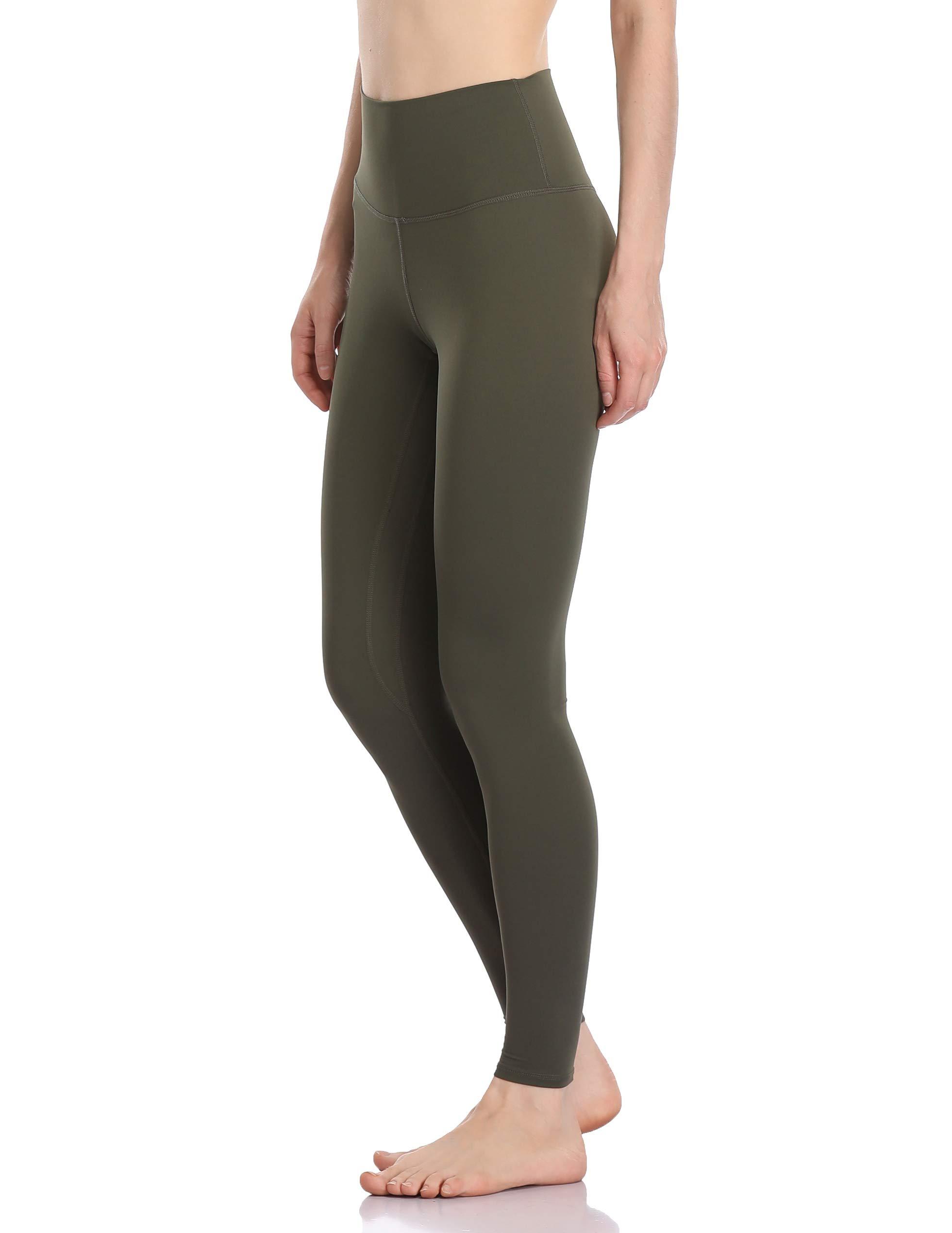 Colorfulkoala Women's Buttery Soft High Waisted Yoga Pants Full-Length Leggings (S, Olive Green)