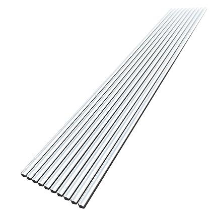 KKmoon 10PCS Alambre de soldadura de aluminio de baja temperatura con núcleo de fundente 2,