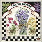 Ceramic Tile Mural - Fresh Herbs - by Sandi Gore Evans - Kitchen backsplash / Bathroom shower