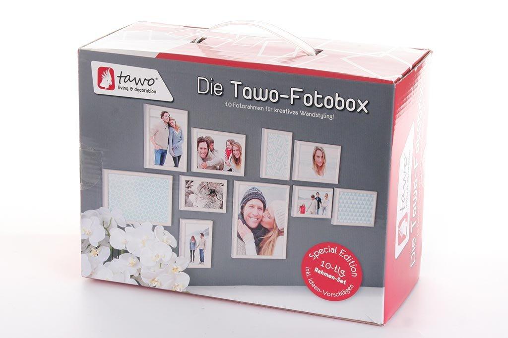 levandeo Bilderrahmen Fotobox - 10 Stück Einzelrahmen in Weiß ...
