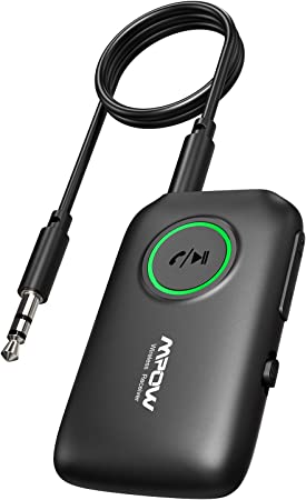 Mpow Wireless 5.0 Transmitter for TV with APTX Aux 3.5mm Bluetooth Audio Adapter