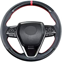 Carkooler DIY Stitching Carbon Fiber Steering Wheel Cover for Toyota RAV4 SUV Avalon 2019-2021 / for Toyota Camry 2018…