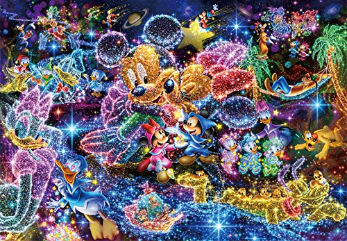 Tenyo (DS-771) Disney Stained Art Wishing to Starry Sky Jigsaw Puzzle (1000 Piece) (Plastic Puzzle)