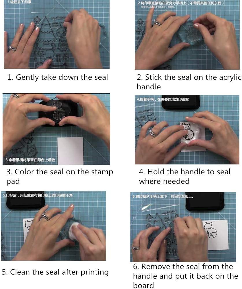 album cartoline timbri per stampa fai da te 2 timbri trasparenti in silicone per scrapbooking timbri trasparenti