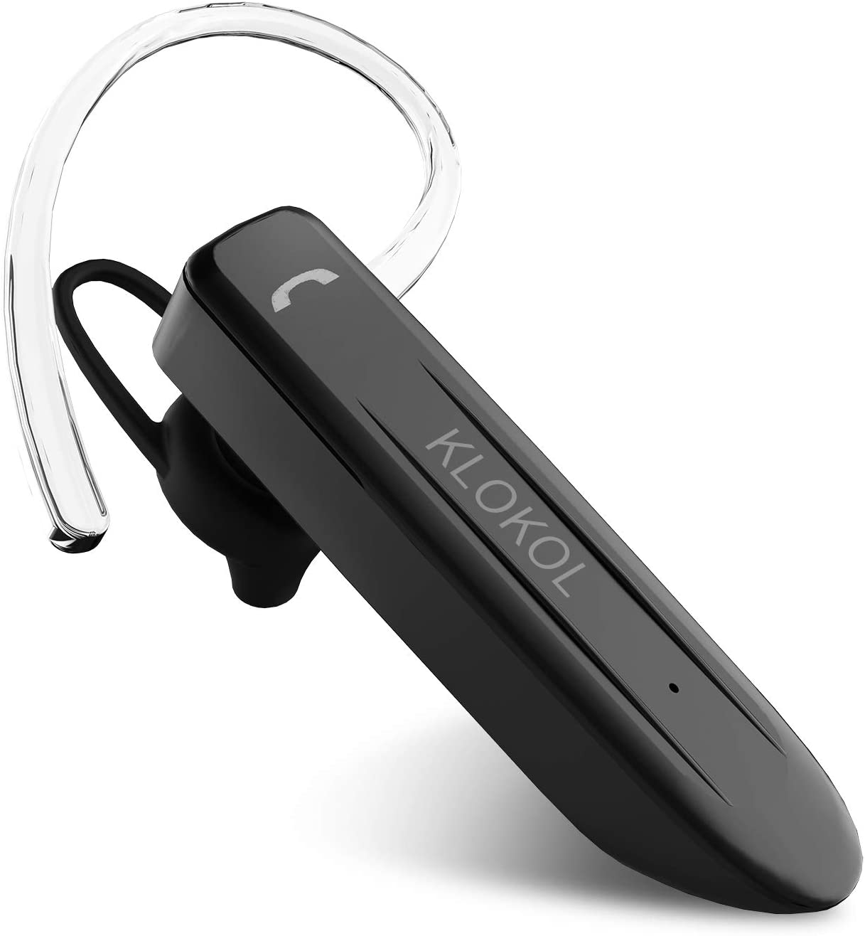 Klokol Bluetooth Headset 28Hrs Playtime Wireless Bluetooth Earpiece For Cell Phone