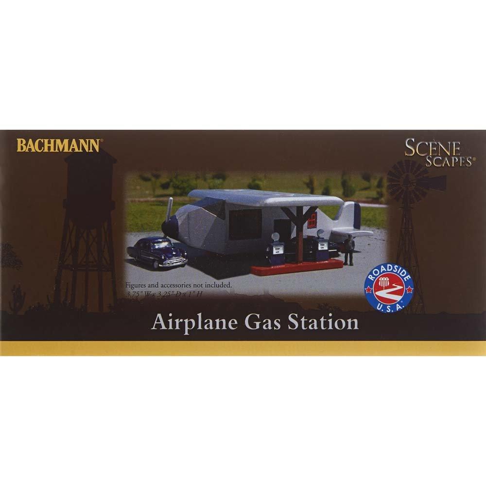 Bachmann Industries Resin Buildings-Roadside U.S.A Airplane Gas Station