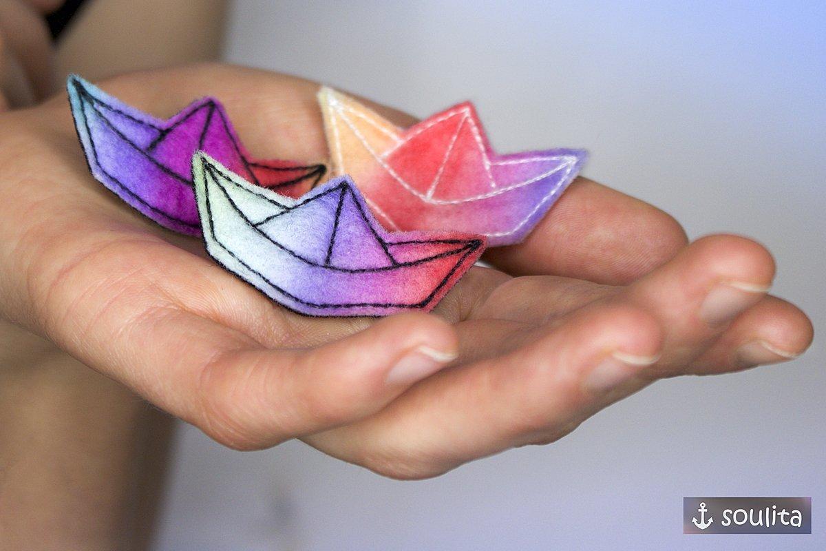 *Rainbow Boat*- Schiff Brosche   Anstecker   Pin   Badge   Brooch