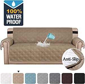 """H.VERSAILTEX 100% Waterproof Sofa Protector Cover Couch Covers for Dogs/Pets 
