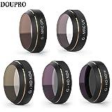 DOUPRO PGY DJI Mavic Pro レンズフィルター UVフィルター ND減光フィルター CPL偏光フィルター 5点セット UV CPL ND4 ND8 ND16 カメラ保護フィルター 光学ガラス 航空アルミフレーム「ドローンは含みません」
