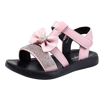 Summer Girls Kids Rhinestone Princess Shoes Girls Crystal Flip Flops Sandals