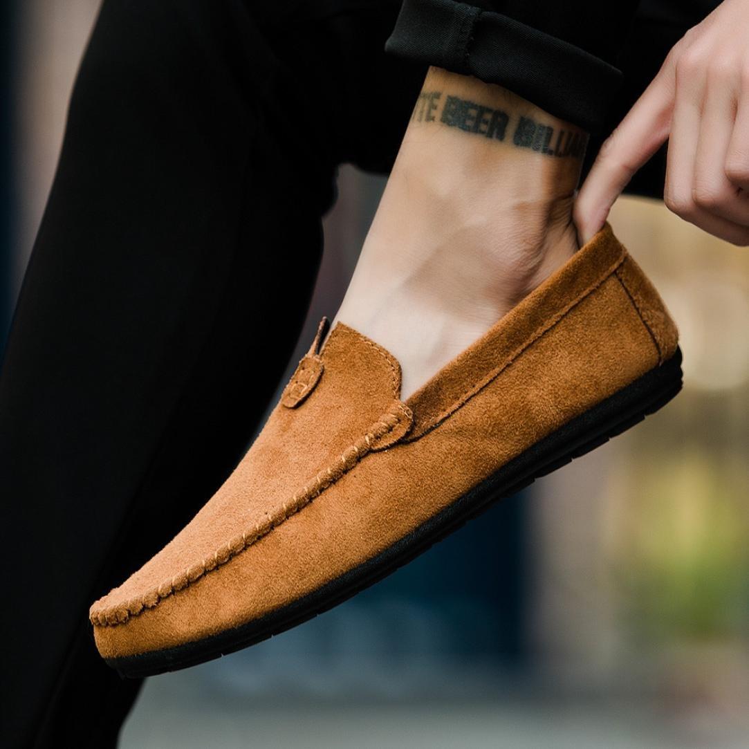 Zapatos Hombre,Estilo de verano joven Cool Men s casual y cómodo conducción zapatos sólidos de frijol LMMVP (Marrón, 43(EU)): Amazon.es: Iluminación