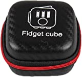 Qingsun Fidget Cube Dice Anxiety Stress Relief Focus Dice Storage Bag Box Carry Case Black Without Fidget Cube