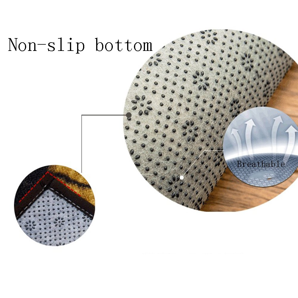GHGMM Simple Europe And America Vintage Style Doorway Tea Table Sofa Kitchen Balcony Floor Mats,| Do Not Fade Super Absorbent Easy To Clean Non-Slip Carpet Footpads, Thickness 6Mm,40Cm60Cm by GHGMM (Image #7)