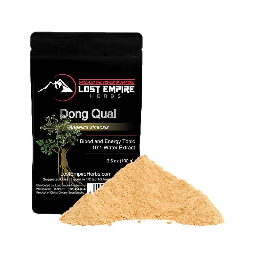 Organic Dong Quai (Female Ginseng) Extract Powder - Stress Relief, Anxiety Reducer, Aids in Hormonal Balance, Natural Energy Boost- Gluten Free, Paleo and Vegan Friendly - (100g)