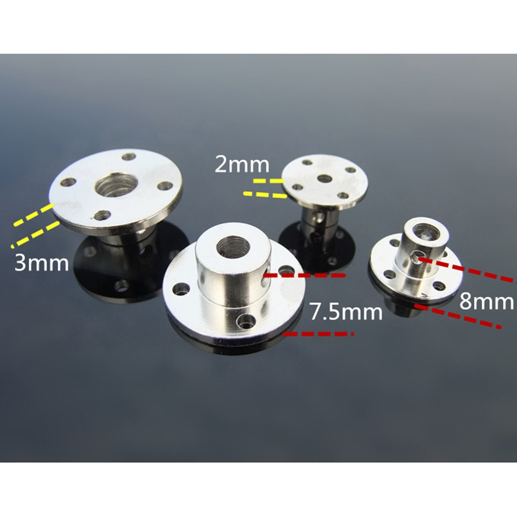 3 Set of 8mm Bearing Seat Rigid Flanged Motor Guide Shaft Coupler