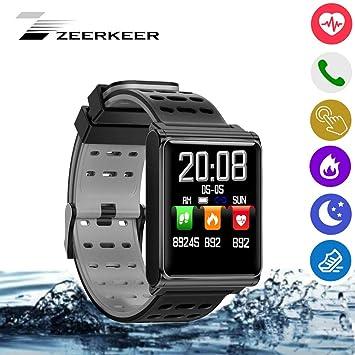 zeerkeer Smart Watch Reloj Impermeable Inteligente con Monitor Electrónico de la presión de la Sangre para Android iOS n98 Pulsera: Amazon.es: Electrónica