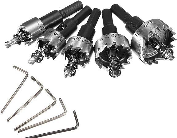 acier bois m/étal 53/mm Pour plastique Haute vitesse Lot de 13 forets en acier pour scie-cloche Pointe en carbure HSS Inoxydable 16