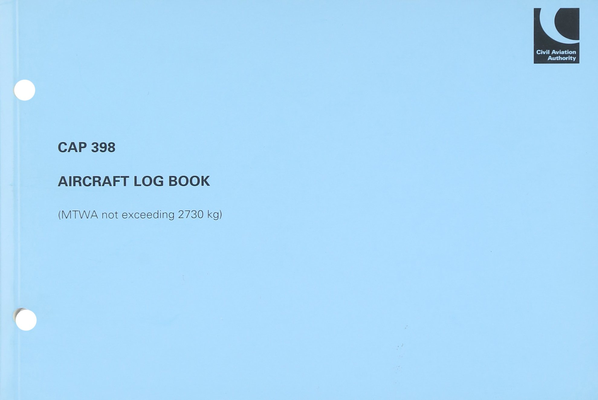 Read Online Aircraft Log Book (MTWA Not Exceeding 2730 kg) June 2007 (CAP) pdf epub