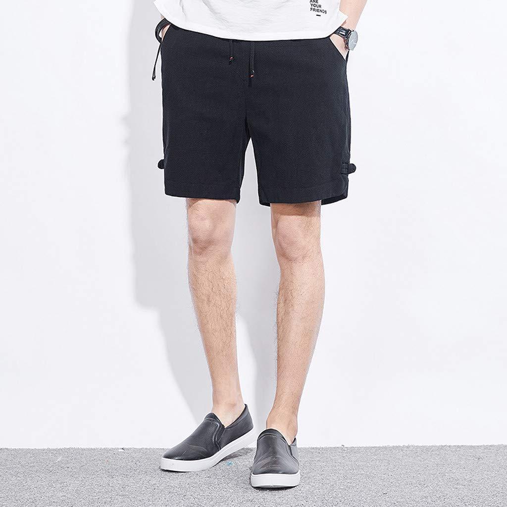 Palarn Sports Pants Casual Cargo Shorts Mens Summer Fashion Sport Belt Drawstring Beach Surfing Swimming Short Pants