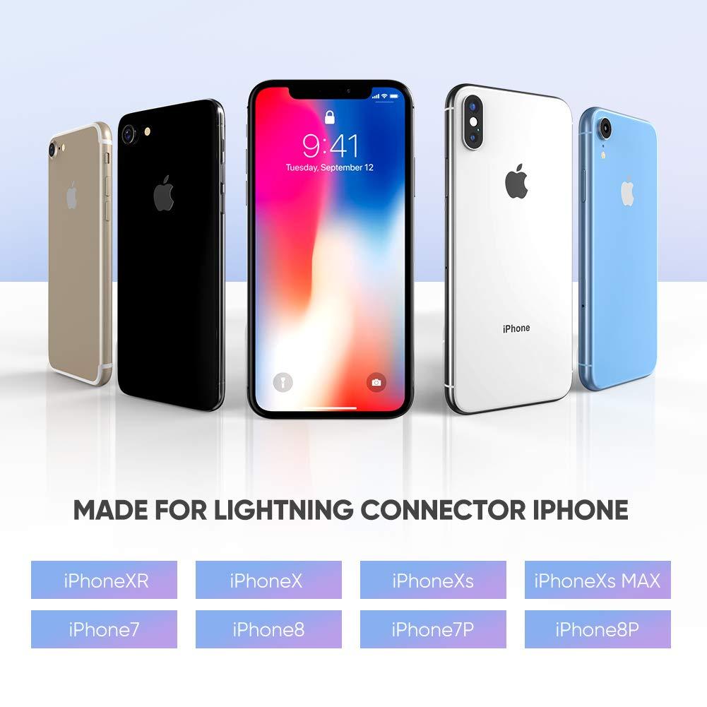 Certificado por Apple para iPhone 8 UGREEN Adaptador de Lightning a Jack 3,5mm 5C Audio de Coche 6 5S a Altavoces SE iPhone a Toma de Auriculares 3,5mm Reproductores de MP4 7