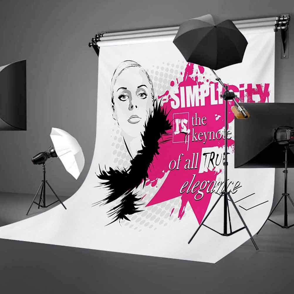 Lady Face with Makeup Simple Design Inspirational Vogue Fashion Theme Art Background for Baby Birthday Party Wedding Vinyl Studio Props Photography Girls 10x15 FT Photography Backdrop