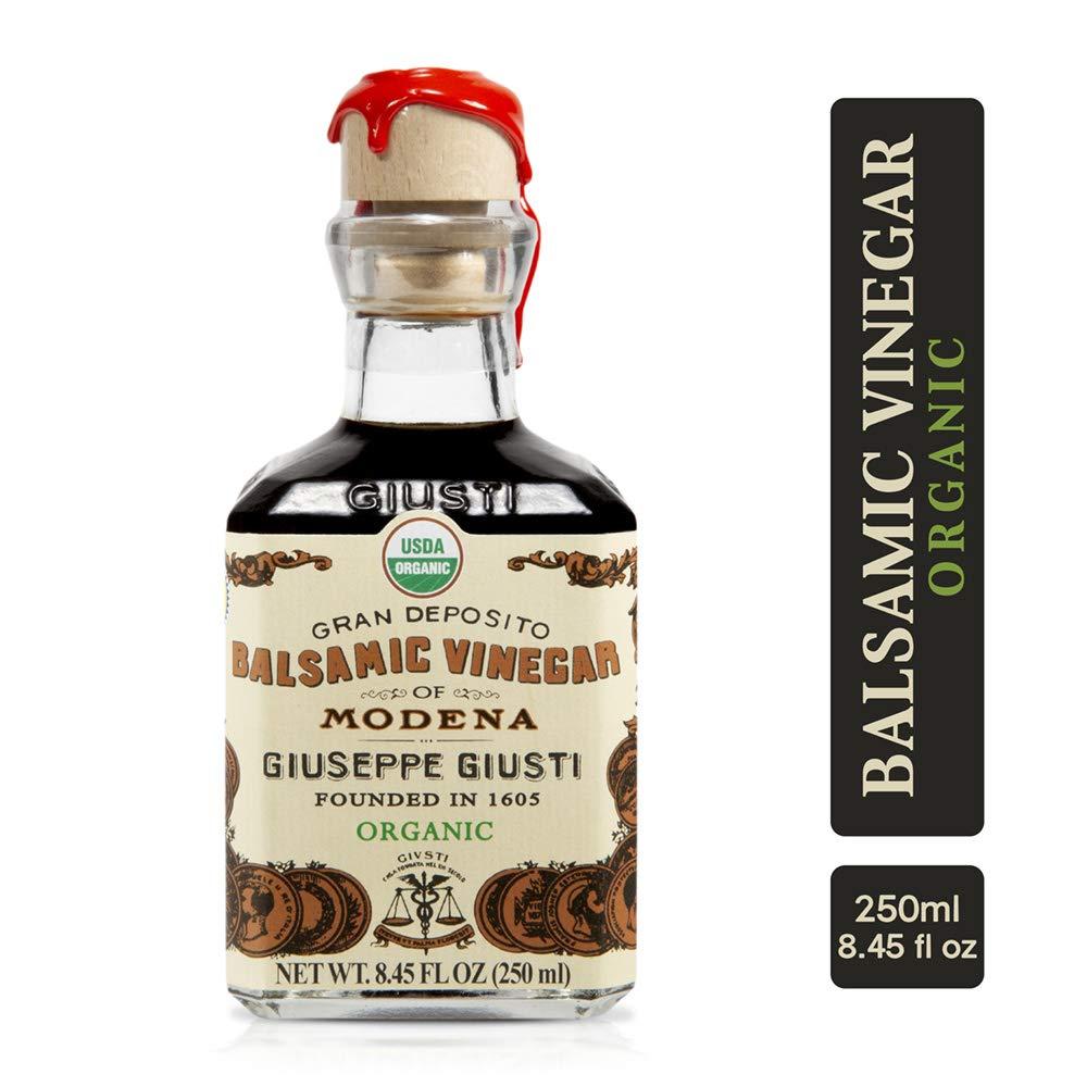 Giuseppe Giusti Organic Italian Balsamic Vinegar Made in Modena, Italy - IGP Certified, Gourmet Aged Vinegar in Gift Box - Aceto Balsamico di Modena Biologico by Giuseppe Giusti
