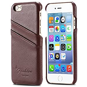 Vintage Genuine Real Leather Case for iphone 6 4.7 Brand Logo Back Cover Luxury With Card Holder Retro Lychee Litchi Phone Bags --- Color:Black