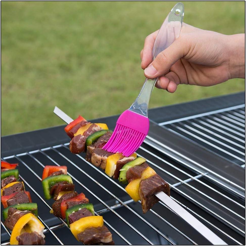 Spazzola per Barbecue Spazzola per friggere Alta qualit/à di 4 Resistente al Calore e Lavabile in lavastoviglie.4 Diversi Colori. Hihey Spazzola per Cottura al Forno in Silicone