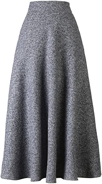 Elegant Solid Color Skirt Ladies Fashion Casual Party Skirts Oversized Streetwear for Winter Autumn huateng Womens Long Skirt