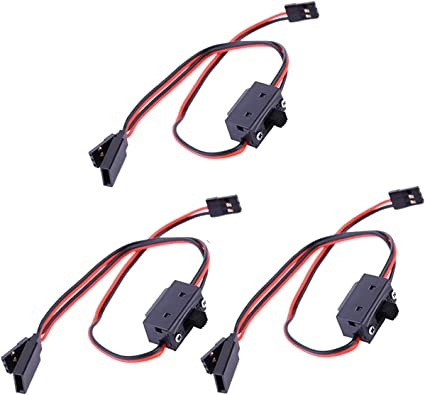 RC Helicopter Parts 3 Way Cable Line On//Off Switch JR Style Connector Cable