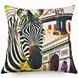 ChezMax Buildings Printing Cushion Covers Throw Pillow Covers Soft Linen Rectangular Throw Pillow Cases Pillowslip