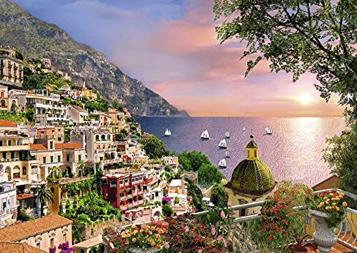 Ravensburger Positano Large Format 500 Piece Jigsaw Puzzle for Adults – Every Piece is Unique, Softclick Technology Means Pieces Fit Together Perfectly (Piece Five Hundred)