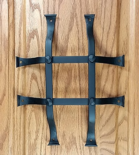 Iron Window Hardware (Speakeasy Grille, Standard style, Window Grille, Forged Iron, Flared legs (8