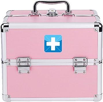 YXYXX Portátil Botiquín de Primeros Auxilios,Metal Doble Capa Multifuncional Caja de Almacenamiento Médico,Casa Impermeable Botiquín de Primeros Auxilios Vehículo Oficina Robusto/rosado / 280: Amazon.es: Bricolaje y herramientas