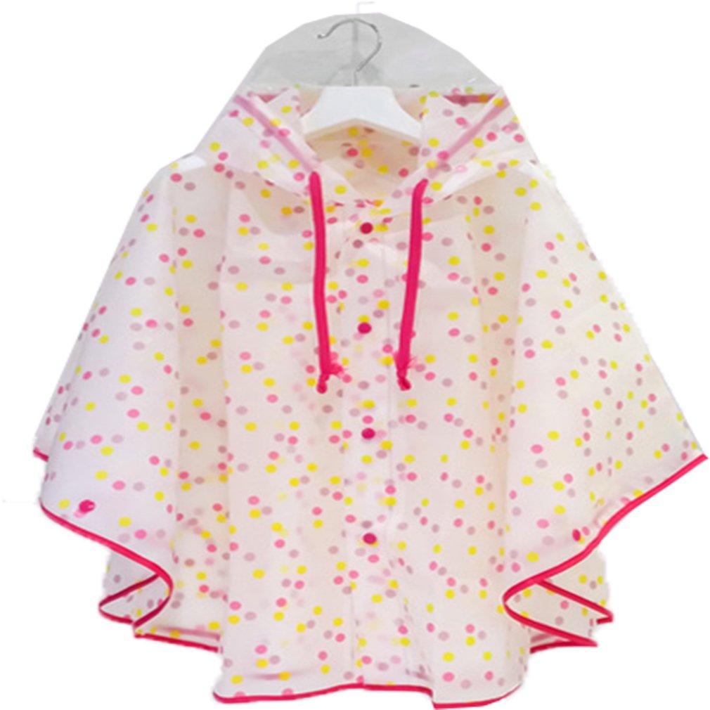 Dingcaiyi Poncho Vêtements De Pluie Enfant Imperméable Couverture Pluie EVA en Dehors de L'école Parent-Enfant Modèles pour Fille Et Garçon (1 Pièce)