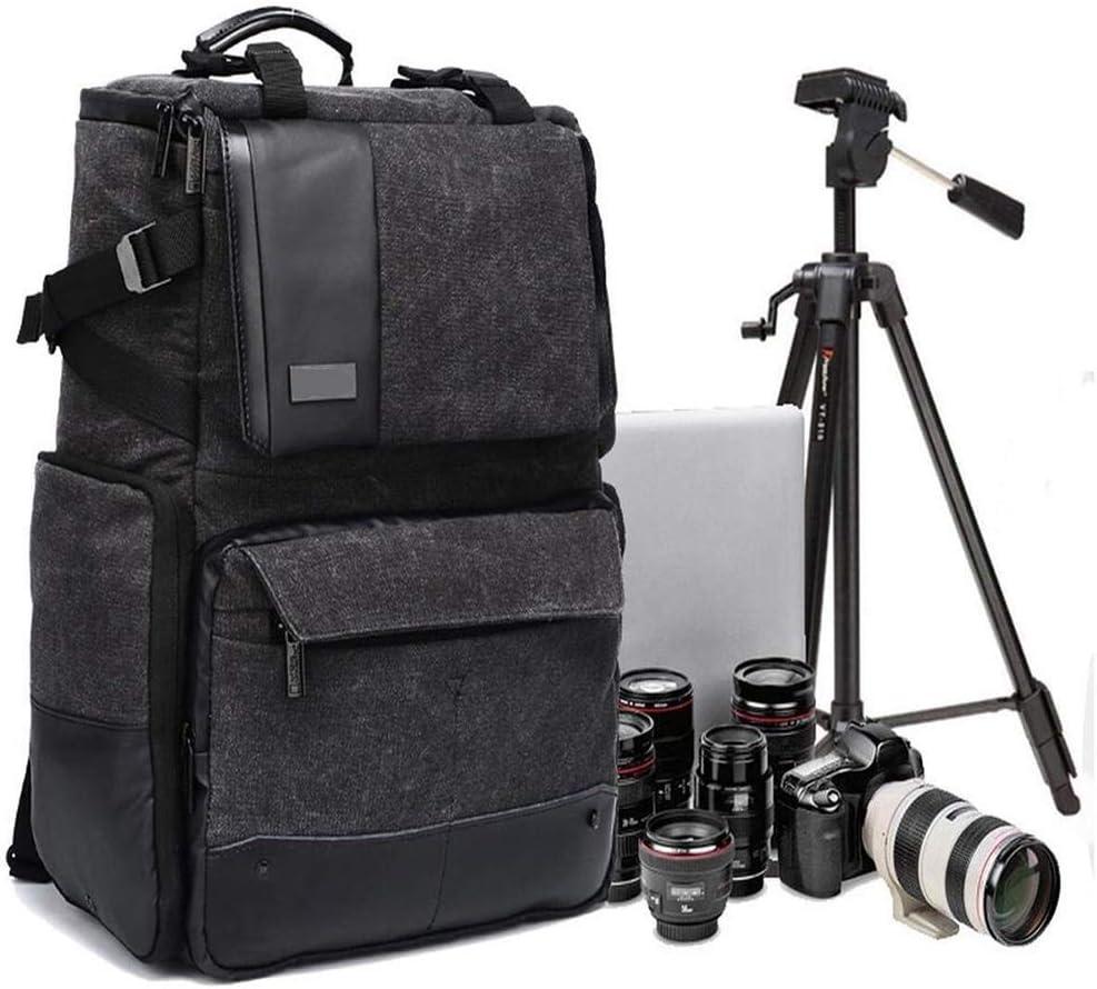 大容量多機能盗難防止カメラバッグプロフェッショナル一眼レフカメラバックパックレンズ三脚アクセサリー、レインカバー付き-32 X 20 X 42CMグレー 絶妙