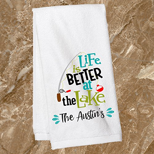 Lake House Personalized Towel - (Monogrammed Terry Cloth Beach Towel)