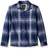 Quiksilver Big Boys' Long Sleeve Fatherfly Youth Flannel Shirt, Navy Blazer Fatherfly Check, S/10