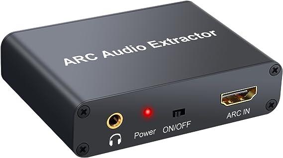 HDMI Extractor de Audio 192KHz Convertidor DAC ARC Extractor de ...