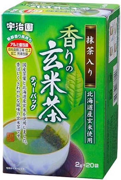 宇治園 香りの抹茶入り玄米茶ティーバッグ 40g×10個