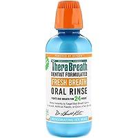 TheraBreath Fresh Breath Oral Rinse - Icy Mint | Fights Bad Breath | Certified Vegan, Gluten-Free, & Kosher | 473ml
