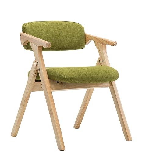 Amazoncom Yizi Stylish Solid Wood Folding Chair With Cushioned