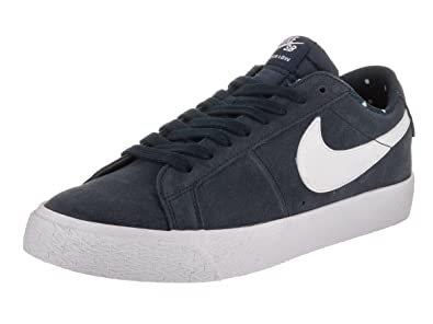 new styles 4b881 b1f27 Nike Men's SB Blazer Zoom Low Obsidian/White/Gum Light Brown Skate Shoe 11