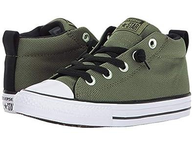 Converse Kids Chuck Taylor All Star Street Basket Weave Mid Medium  Olive Black White af0ae9ba3