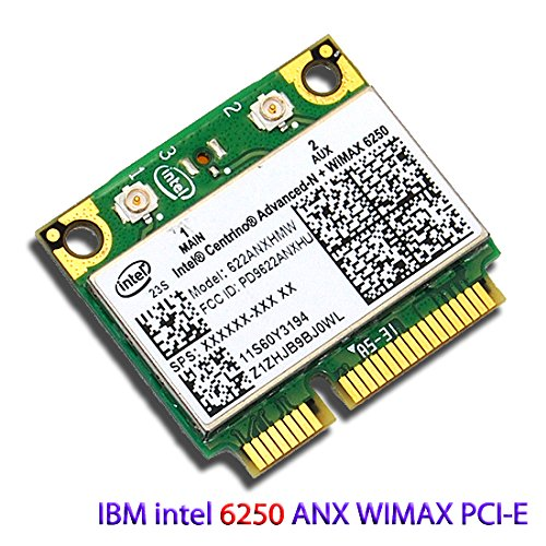 (Intel Wifi/wimax Link 6250 6250anx Wireless N for IBM Thinkpad Lenovo ANX Wireless Half Pci-e Card)