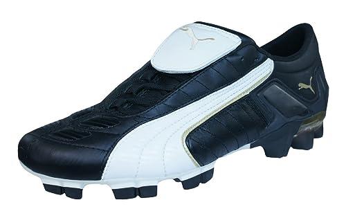 0b33d79ac06e4 Puma V Konstrukt II GCi FG Mens Leather Football Boots   Cleats-Black-6.5