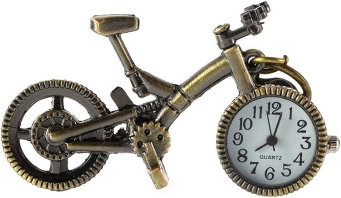 Lorenlli Moda Vintage Bronce Color Bicicleta Llavero Reloj Cuarzo ...