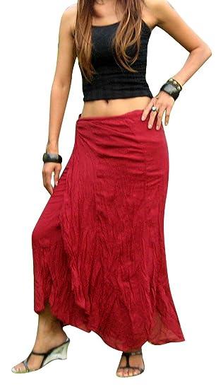 a112df4cba8 Billy s Thai Shop Cotton Wrap Skirt Hippie Wrap Skirt Boho Skirts for  Women  Amazon.ca  Clothing   Accessories
